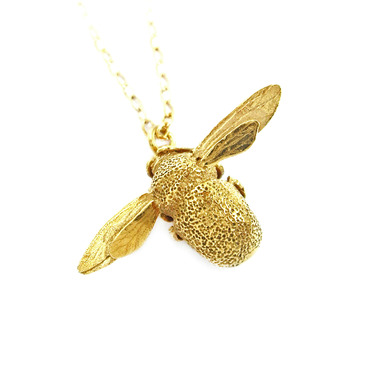 alex monroe gold bumblebee necklace