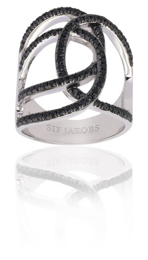 8f02937a7 Sif Jakobs Fucino Grande Ring with Black Zirconia