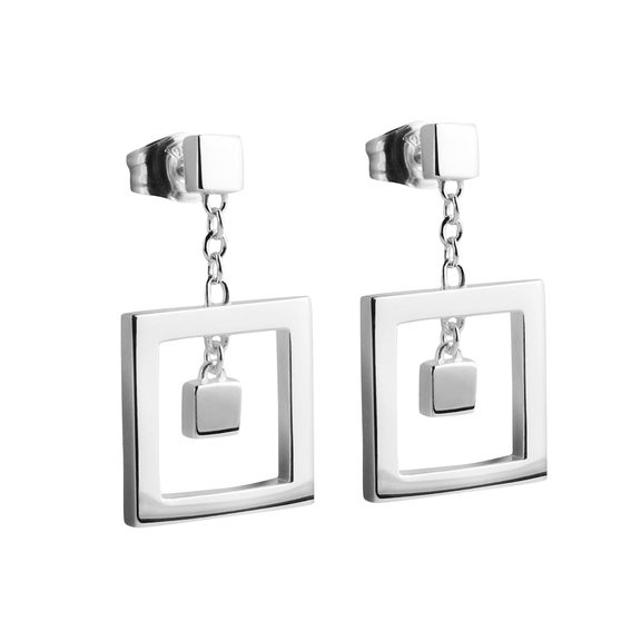 square silver earrings local jewellers
